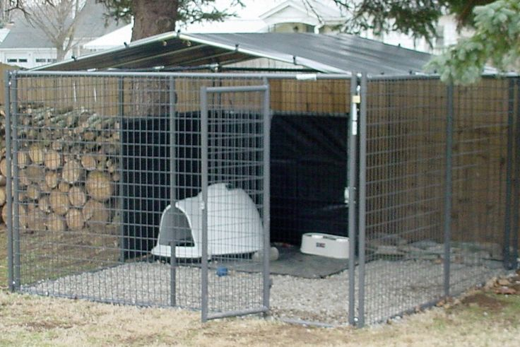 How To Build A Husky Dog Pen Diy 10 X 10 6 Truss Med Pitch Kit For Chain Link Kennel Dog Kennel Outdoor Diy Dog Kennel Dog Kennel Cover