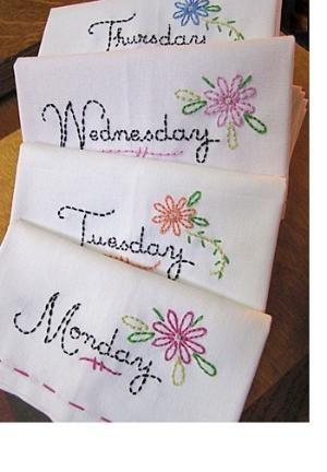 Simple tea towels