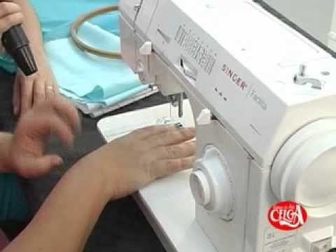 Aprenda boradar a máquina com Angélica Bonifácio. - YouTube