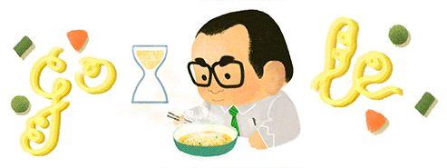 Google lança Doodle de Momofuku Ando, criador do macarrão instantâneo