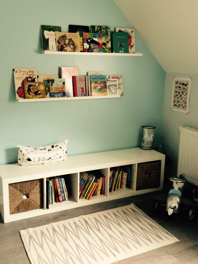 ikea hack chambre enfant bibliotheque expedit tagres ribba - Chambre Garcon Ikea
