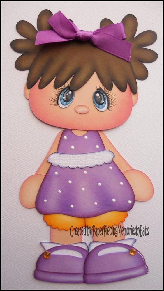 Premade Daisy Girl Paper Piecing for Scrapbook Pages-By Babs