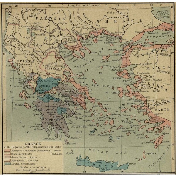 Map of Greece 431 BC ❤