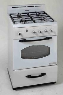 "Avanti G2404CW - 24"" Gas Range - White – G & R Appliances NYC"
