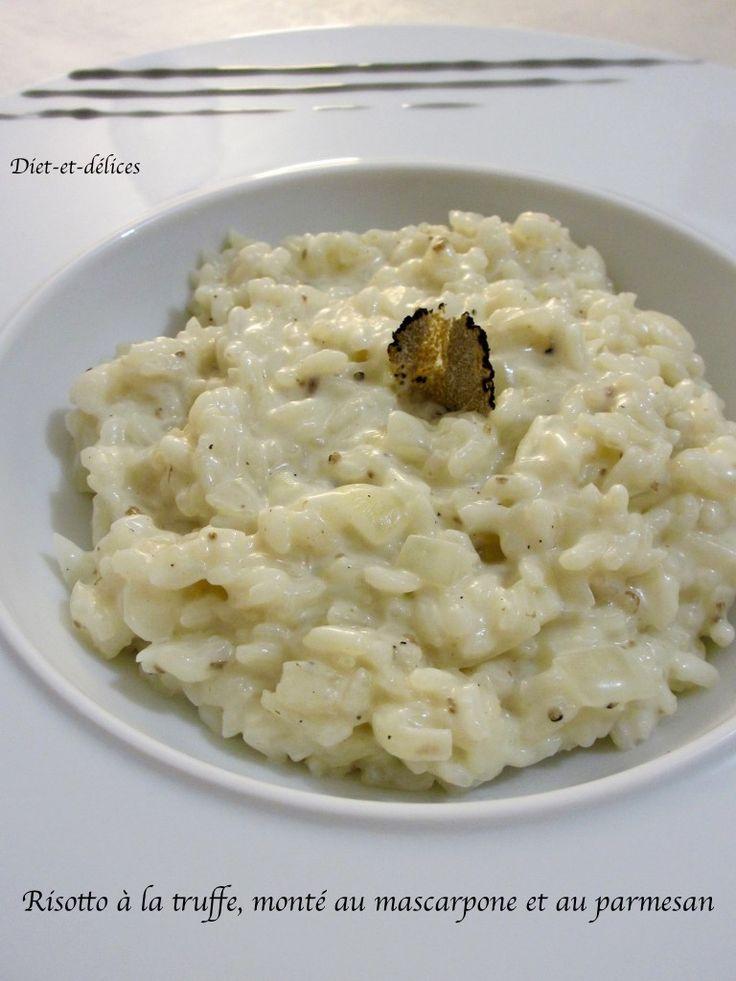 Risotto à la truffe, monté au mascarpone et au parmesan