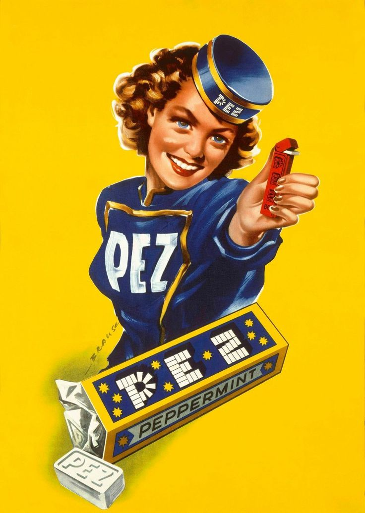 1940 Canvas Print Painting Pez Candy Store Front Poster