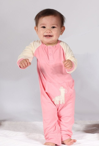 Silkberry Bamboo L/S Romper is eco-friendly, soft, breathable, anti-bacterial.  Baby's carbon footprint is the best!