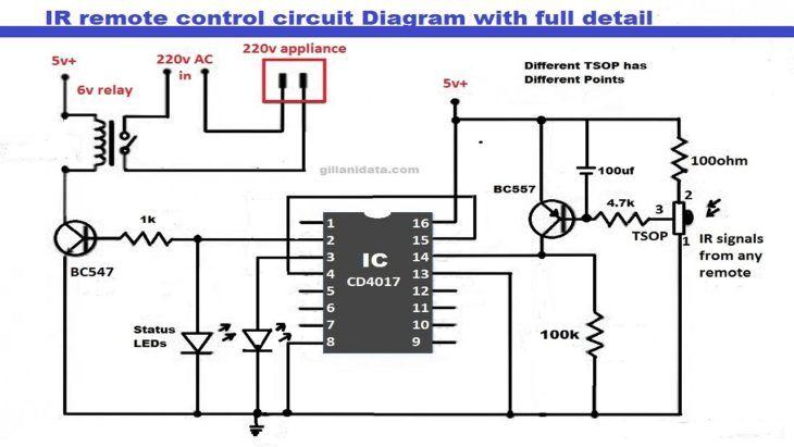 Ir Remote Control On Off Switch Circuit Envirementalb Com Circuit Remote Control Electrical Circuit Diagram