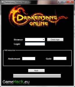 Hi! I present the latest hack 100% working game Drakensang Online. Watch video and see for yourself that the program is very easy to use, and it works!    What can it do?  Adds Andermant  Adds Gold    Have a good time!    Follow all the steps just like the movie!    http://gamehack.eu/2012/drakensang-online-hack-2012/