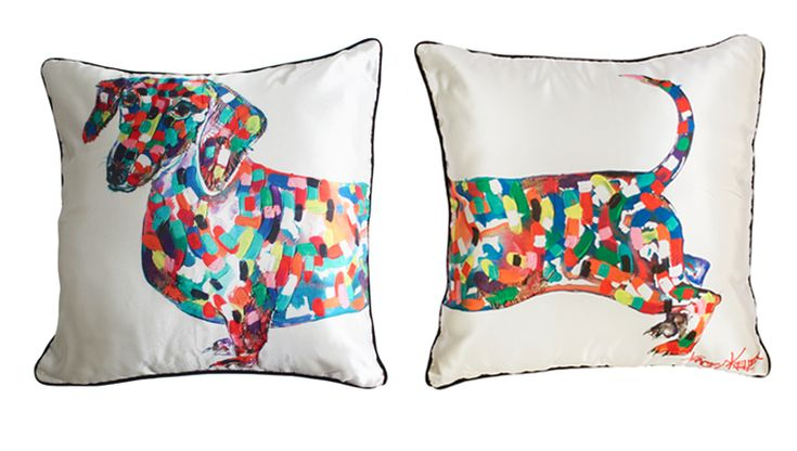 Artist Tracey Keller's cushion covers for animal lovers