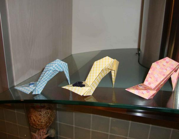 Shoes origami