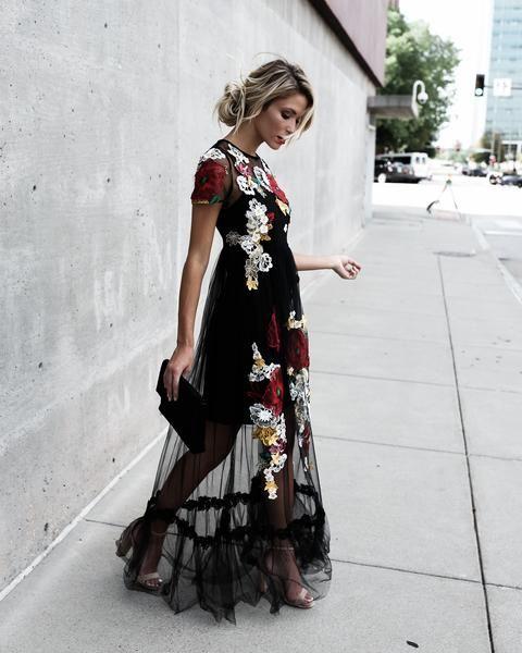 PREORDER - Esmeé Floral Applique Maxi Dress