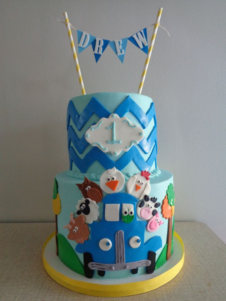 ... Blue Trucks on Pinterest  Blue gingham, Pig party and Truck party