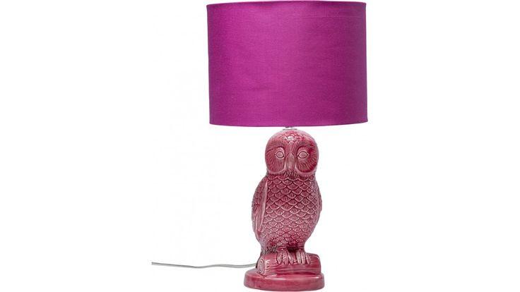 Lampe de Table Chouette rose Kare Design