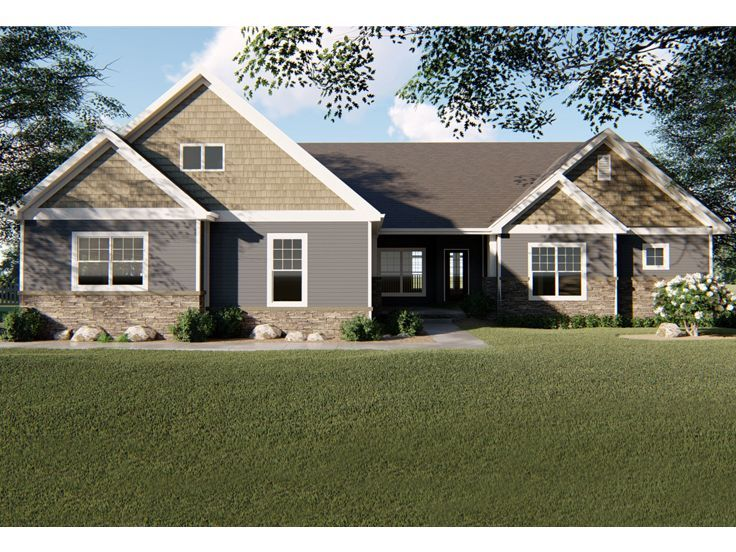 050h 0240 Empty Nester House Plan Cottage Style House Plans Empty Nester House Plans House Plans