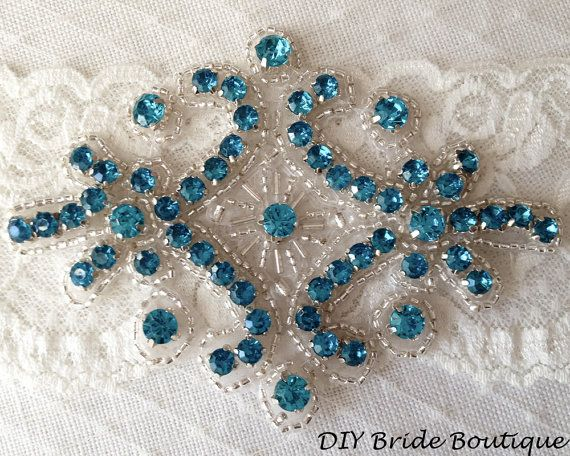 Rhinestone applique,  couture crystal applique, wedding applique,  beaded patch for DIY wedding sash, bridal accessories