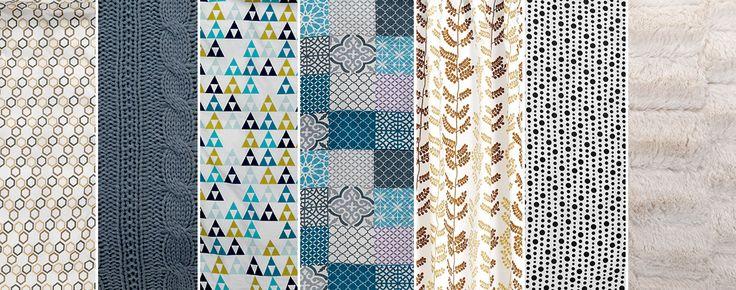 Printuri geometrice sau naturale și texturi diferite. Află de pe blogul JYSK cum să îți împrospătezi casa cu textile decorative!   JYSK