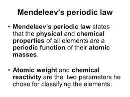 mendeleevs law