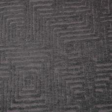 Pewter Velvet Upholstery Fabric - Palermo 1918