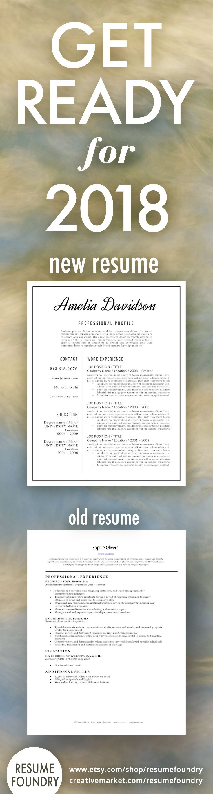 Professional Resume Template For Word, 1 3 Page Resume + Cover Letter +  Reference Page | US Letter | INSTANT DOWNLOAD | Davidson
