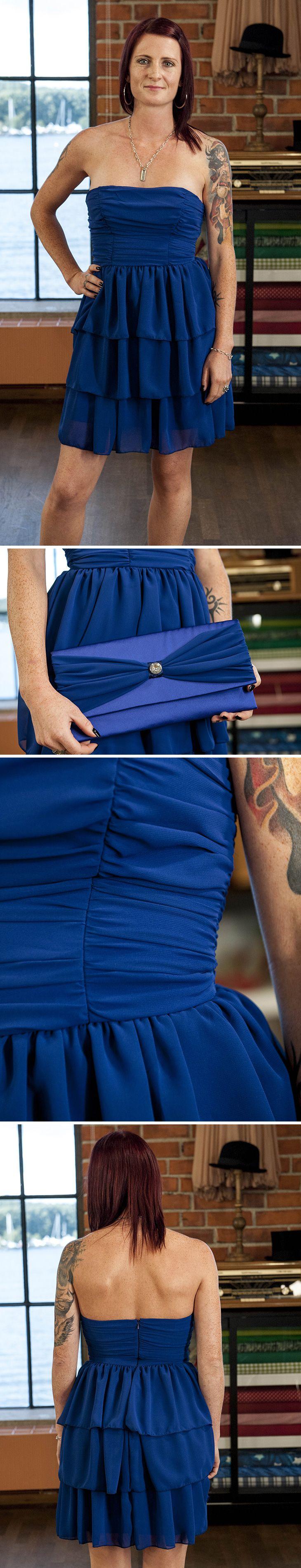 Lisas vackra coctail-klänning från finalkvällen i Hela Sverige syr #helasverigesyr