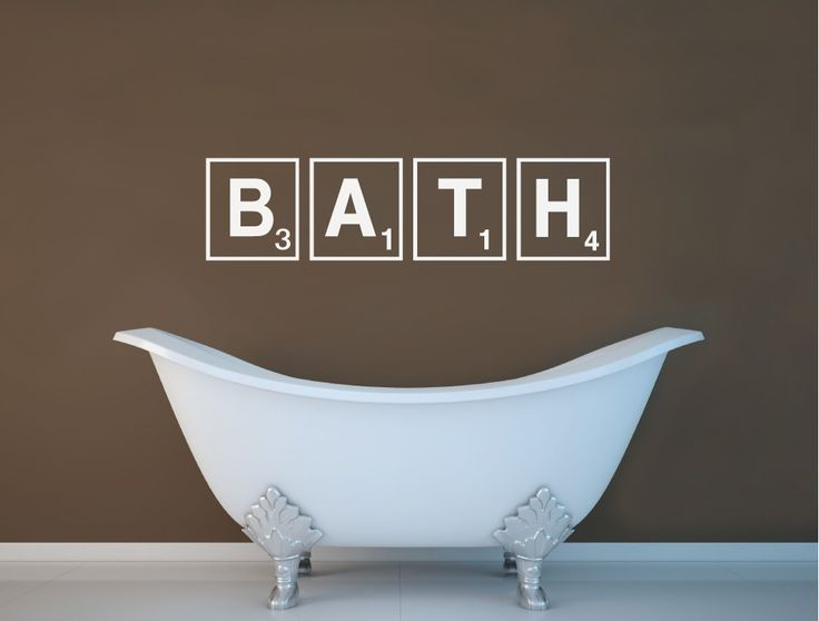 buy this fun bath scrabble wall art sticker and add interest to any bathroom decor