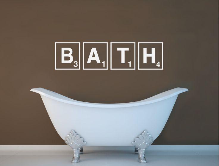 Bath Wall Sticker   Scrabble Wall Art