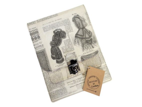 iPad Sleeve  Tablet  Cover with Recycled Vintage by CeeBeeRecycle