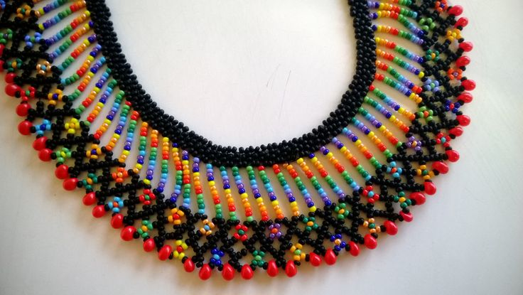 Colorful beaded necklace...no link.....just photo...