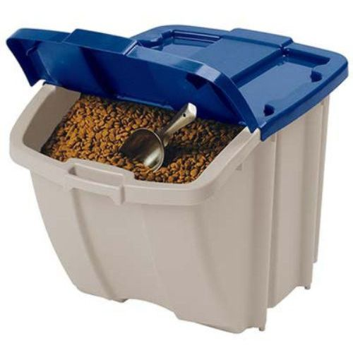 Suncast 72 Quart Food Storage Bin @ Walmart. $12.98  Want 2 of these to stack for our pet's food.