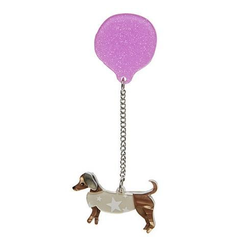 "Erstwilder Limited Edition Up Dog Brooch. ""Eyes on the skies. You never know when a precociously precious puppy might drop in to your life. What's up dog?"""