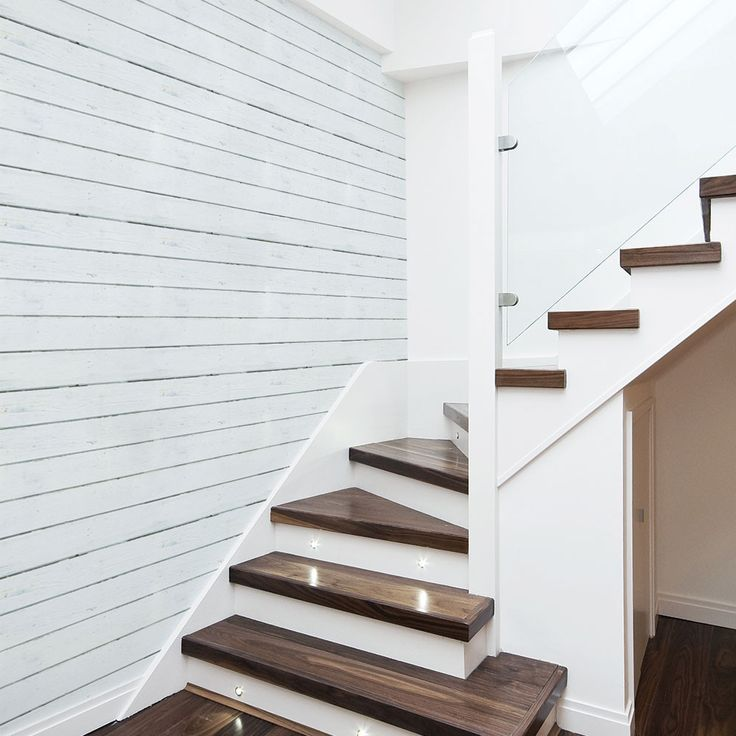 White Wood Planks Wallpaper | French Country Wallpaper | Wallpaper by Eazywallz