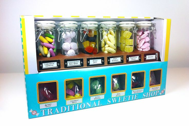 The Classic Sweet Shop gift set contains 12 different types of sweet - contains: Liquerice Comfits, Strawberry Bon Bons, Midget Gems, Foam Bananas, Shrimps, Aniseed Twists, Coconut Rolls, Apple Bon Bons, Rosy Apples, Blackberry & Raspberry, Rhubarb & Custard. All gift boxed.    Includes personalised gift card - featuring your own personal message / All our products will arrive in a secure box which will be posted in a waterproof mailer bag.