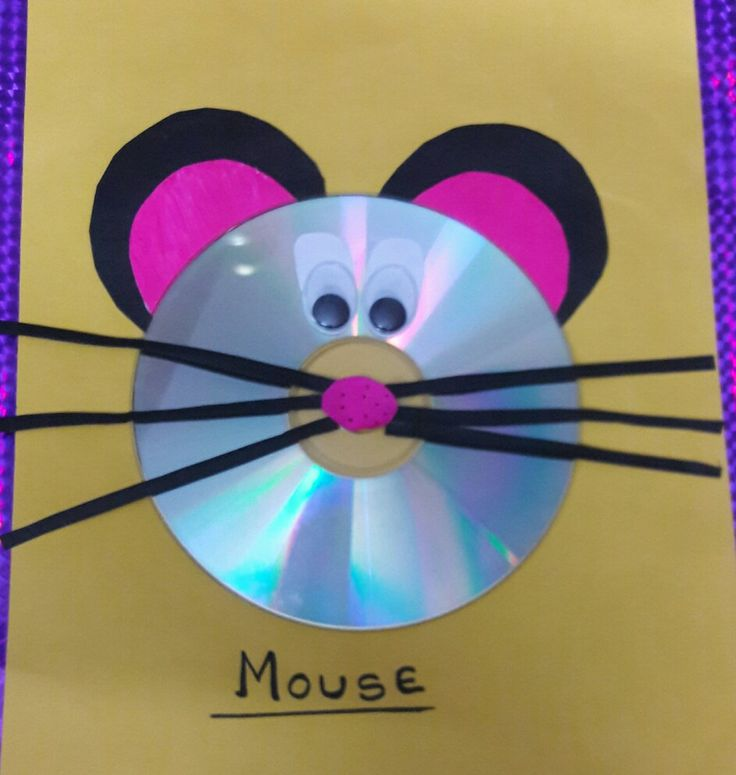 Using Old CD..mouse craft