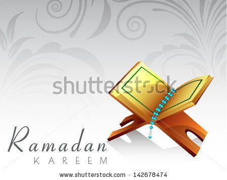 Open Quran Vector Open islamic religious book