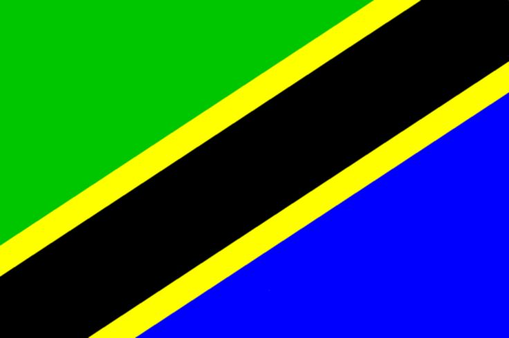 The colours of the national flags of Zanzibar and Tanganyika were merged to form the current Tanzania flag.