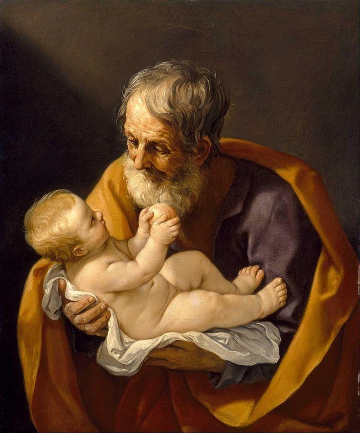 Guido Reni - Saint Joseph and the Christ Child - Google Art Project - José de Nazaret - Wikipedia, la enciclopedia libre