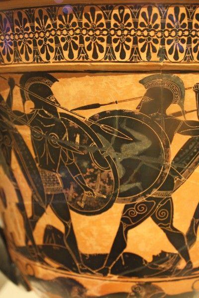Black-Figure Warrior Scene (Illustration) - Ancient History Encyclopedia