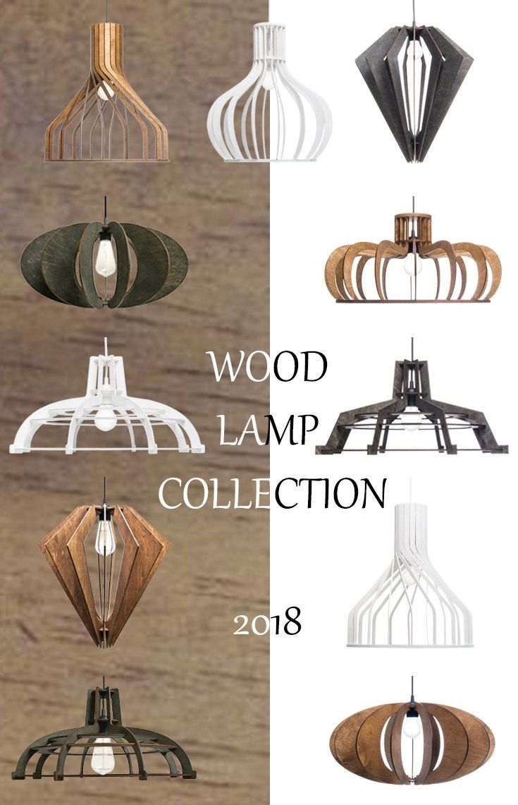 Wood lamp collection Trending now pendant light Kitchen lighting Hanging lamp original design Wooden lampshade Rustic light fixture Ceiling light White black brown lamps #lamp #woodlamp #lighting #pendantlight