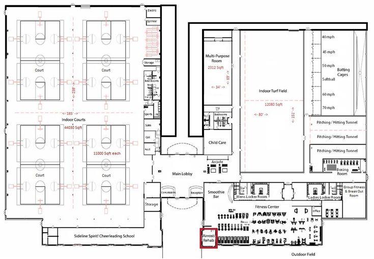 Indoor Sports Complex Floor Plans