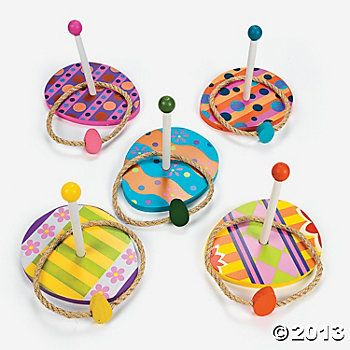 Egg Ring Toss - From 25 Easter Party Ideas for Kids