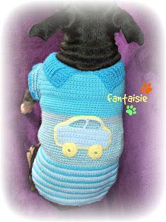 Fantaisie: Χειροποίητο Πλεκτό Μπλουζάκι για Σκυλάκι