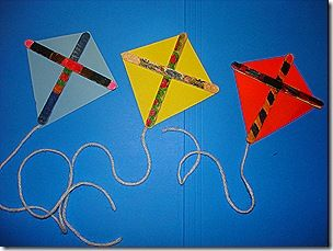 popsicle stick kite craft