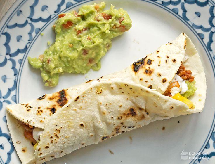 Burritos mit selbstgemachten Tortillas - Madame Cuisine