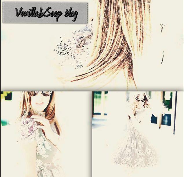 La blogger Federica Romani per il blog Vanilla&Soap veste un abito di pizzo di Princesse Metropolitaine.