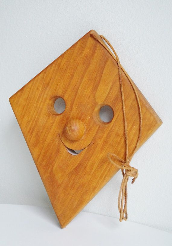 Wooden Happy Mask Wooden Clown Face Wooden Kite Mask Smiling