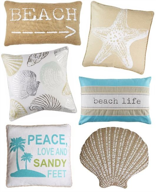 Delicious Beach Pillows Under  20    http   www beachblissdesigns. Best 25  Beach themed bedrooms ideas on Pinterest   Beach themed