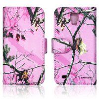 Pink Camo Real Oak Tree Mossy Faux Leather Wallet Purse clutch Handbag Samsung S4 Active i537 i9295 Case Cover with Clear Slot for ID, Credit Card Slots and Hidden Slot for Cash $11.99 #HadiCase