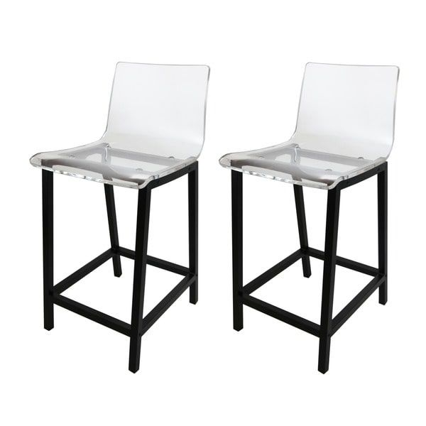 Pure Decor Clear Acrylic Counter Stool - Set of 2 $390
