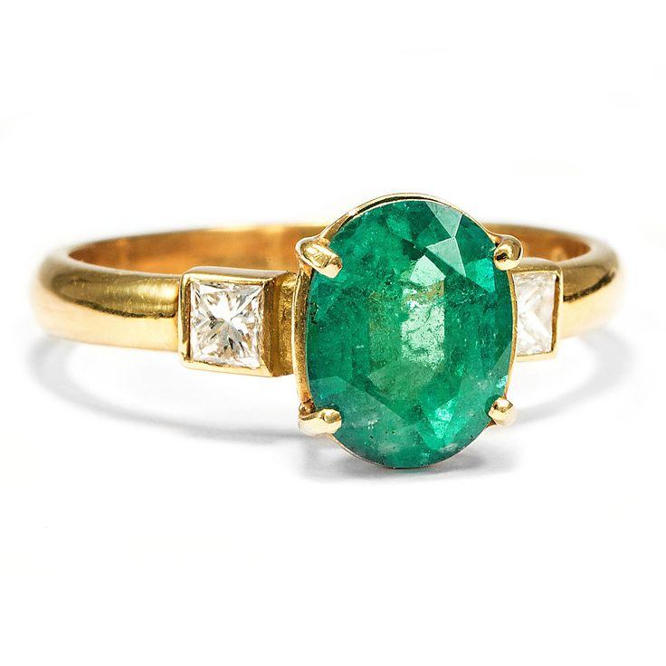 Vintage Smaragd geschnitten Verlobungsringe